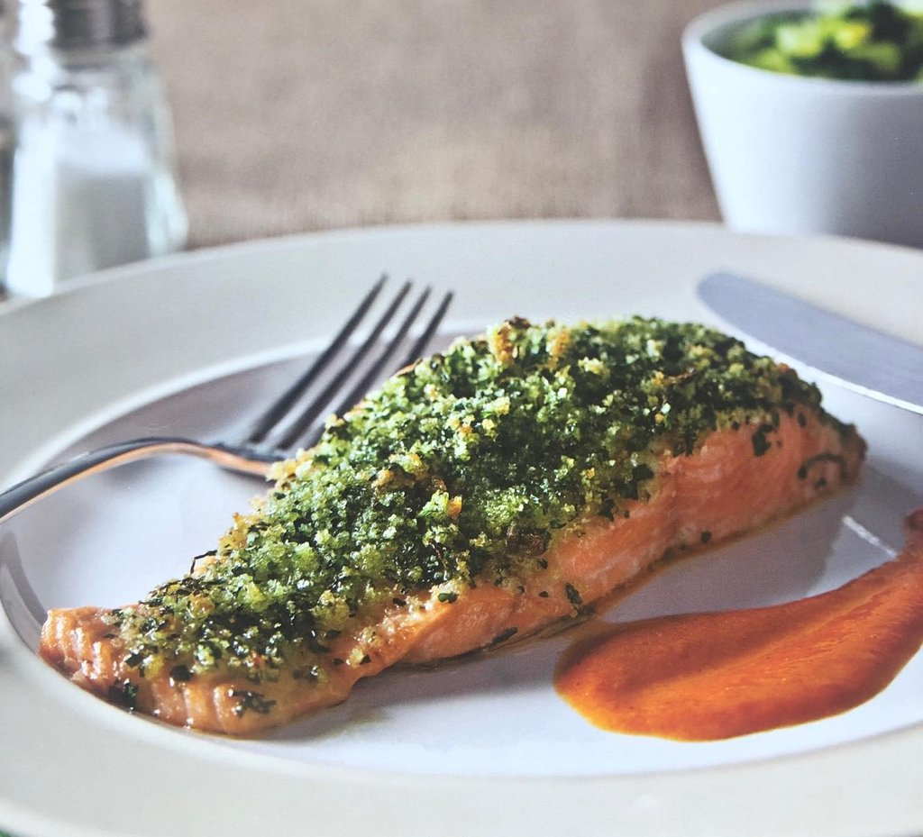 herb crusted salmon recipe